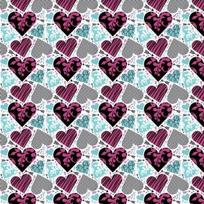 Fancy hearts and arrows