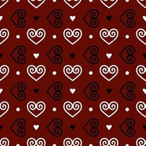Valentines Paper Clip Hearts