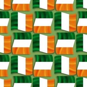 Ireland Wavy Flag