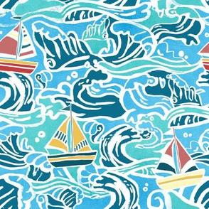 Waves & Sailboats