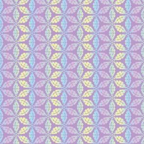 violet ornament in rainbow tones by rysnki_malunki