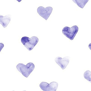 Amethyst watercolor hearts ★ painted romantic saint valentines