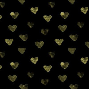 Bronze hearts on black ★ hand painted romantic for saint valentines