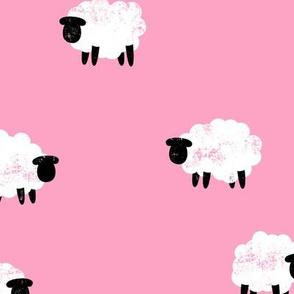sheep - lamb spring - pink - LAD20