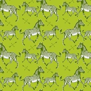 Galloping Green Zebras