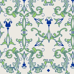 Art Nouveau filigree