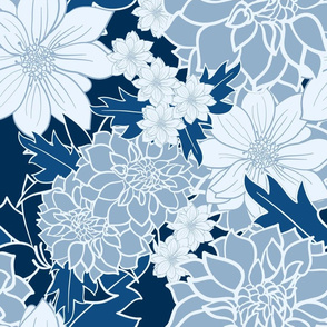 BLUE FLORAL INSANITY