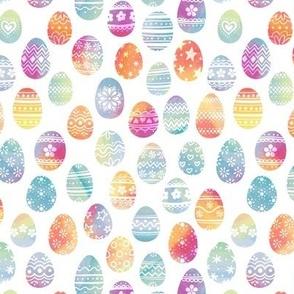 Chalk Easter Eggs on White