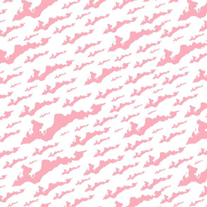 FINY Large Tile - Pink on White