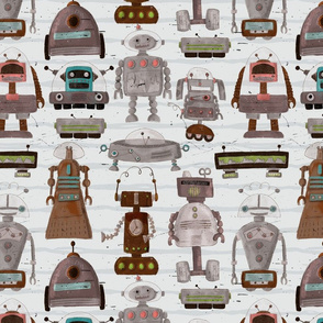 Kooky Robots_gray_stripes