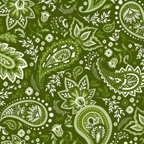 Moss Green Soma Paisley