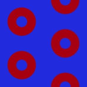 "Bright Fishman Donuts - 4"" block"