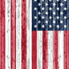 "2 yard cut (54"" width) minky panel - American Flag C20BS"
