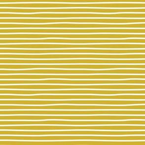 Irregular hand drawn stripes breton marine Parisian style minimal basic mustard yellow