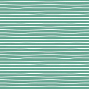 Irregular hand drawn stripes breton marine Parisian style minimal basic horizontal sage green