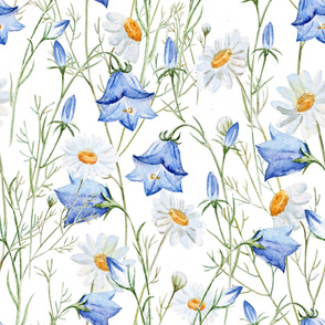 Bluebells & Daisies (large scale)