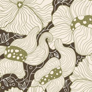 Mysterious Art Nouveau florals