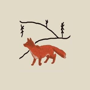 Winter Fox Charm