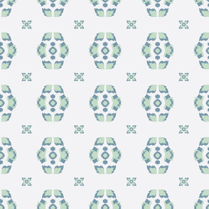 Folklore Floral Chains seamless pattern background.