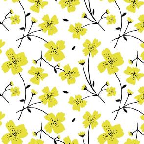"YELLOW FLOWERS 12"""