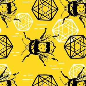 Honeycomb and Bees horizontal