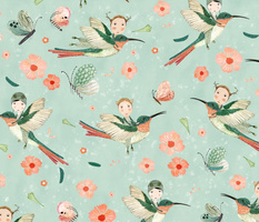 hummingbird scouts mint  {large}