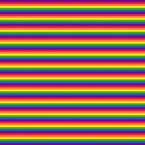 Rainbow 1/4 inch stripes