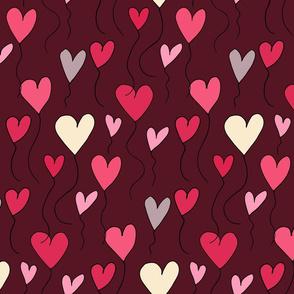 2020 valentines Heart Balloon Purple