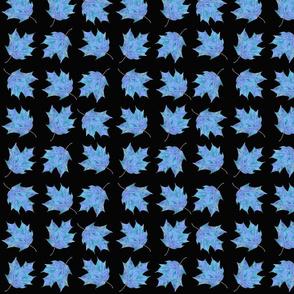 Maple Leaves blue