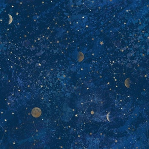 Moon & Stars, constellations, galaxy, moonphases