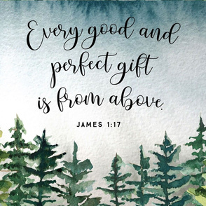 "18""x27"": every good and perfect gift is from above // john 1:17"