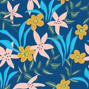 Lilium on Classic Blue