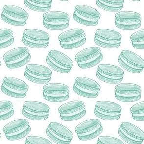 Macarons - Turquoise on White, Medium