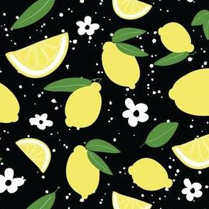 Lemons- Lemonade-Black