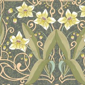 Art Nouveau Orchids