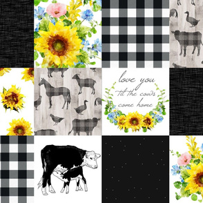Love you til the cows come home quilt - sunf