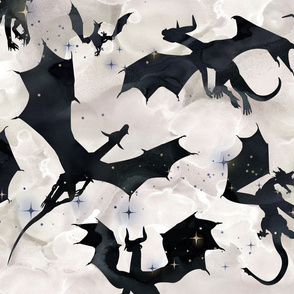 Big Dragons - black/pearl