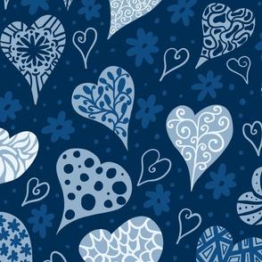 Boho Hearts ( large)