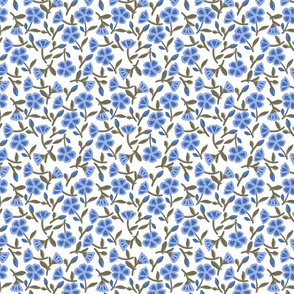French classic blue florals