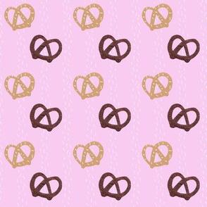 Pretzel Party with Salt Stripes - pink