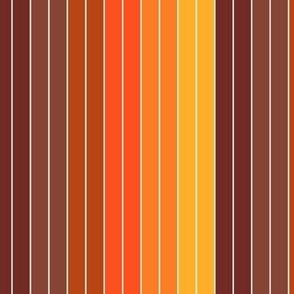 70's Graphic Stripes in Orange Ombre