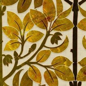 Parrots Art Nouveau (Brass)