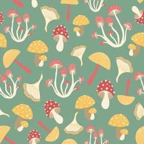 Vintage Crazy Mushrooms