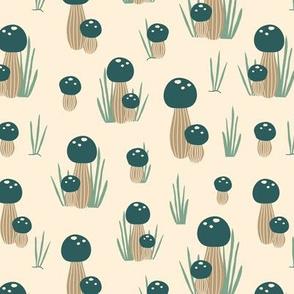Green mushrooms