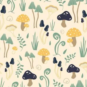 Mushroom forest - creamy