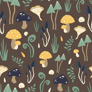Mushroom forest - brown