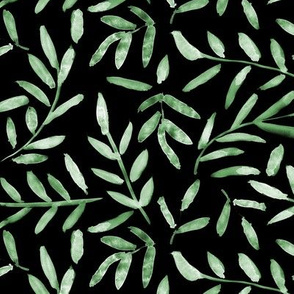Nature vibes on black ★ painted metal leaves for modern home decor, bedding, nursery