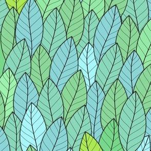 Leaves, green, springtime, spring, nature