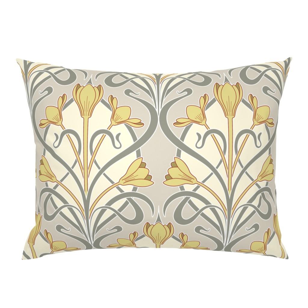 Campine Pillow Sham featuring Crocus Art Nouveau by mia_valdez