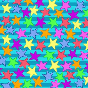 Colorful Starfishes